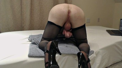 Gay cum, Stocking heels, Heels masturbate