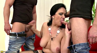Mother son, Mother & son, Old milf, Mother seduces son, Two mothers, Two