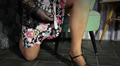 Heels, Nylons feet, Skirt, Gay feet, Nylon handjob, Skirts