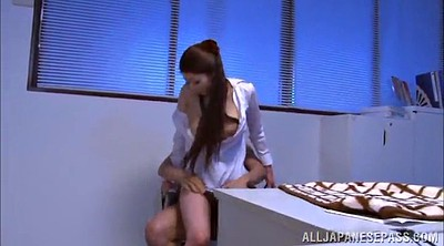 Office, Natural tits, Asian office