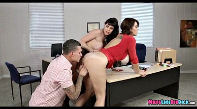 Huge cock, Huge tits, Mature office, Huge cocks