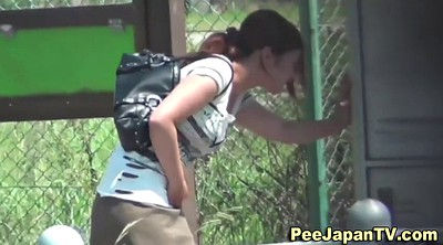 Japanese amateur, Public pee, Park, Japanese outdoor