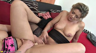 Mom and daughter, Young daughter, Mature dildo