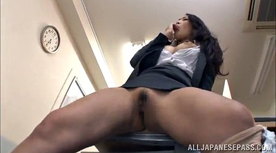 Panties, Long hair, Asian ass, Asian office