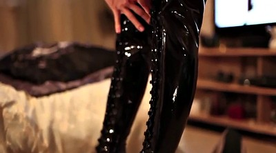 Latex, Boots, Boot fetish, Catsuit, Ebony girls