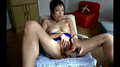 Asian granny, Asian mature, Granny masturbation, Asian dildo, Webcam asian