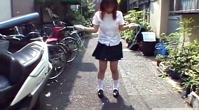 Japanese outdoor, Japanese schoolgirl, Japanese uniform, Japanese panty, Subtitled, Subtitle