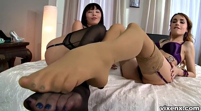 Footjob, Foot, Japanese feet, Japanese threesome, Asian feet, Japanese footjob