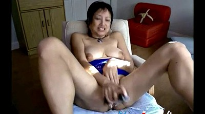 Asian granny, Webcam mature