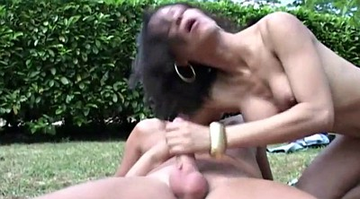 Shemales fucking, Tranny cumshot, In the woods