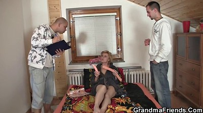 Wife threesome, Old men, Delivery, Threesome granny