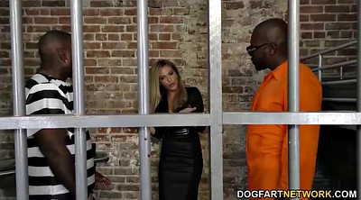 Interracial creampie, Jail, Russian interracial, Threesome blowjob, Russian creampie