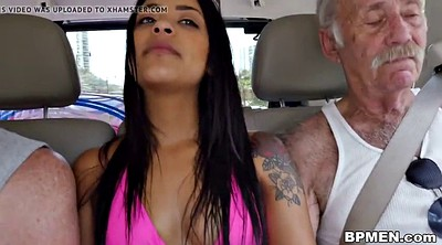 Threesome, Nikki, Latina granny, Grandpa gay
