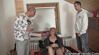 Young, Mature gay, Thin, Old woman, Delivery, Mature woman