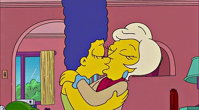 Cartoon, Cartoon lesbian, Simpsons, Simpson