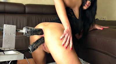 Machine, Squirters, Fuck machine, Double dildo