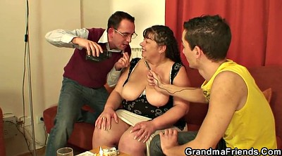 Mature, Young old, Mature threesome, Mature boobs, Big tit granny