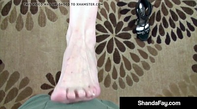 Shanda fay, Mature feet, Mature foot, Cum on foot, Cum on feet, Mature pov