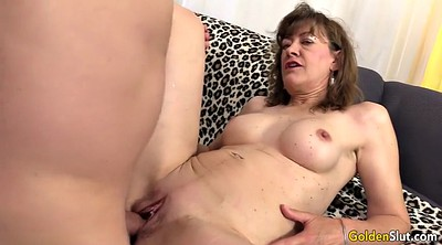 Mature blowjob, Mature masturbating, Old woman