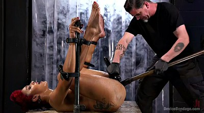 Toys, Bdsm squirt, Hairy redhead, Hairy squirt, Black bondage, Squirting sex