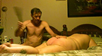 Wife spanked, Spanked hard