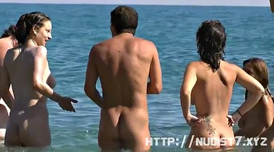 Nudist, Lotion, Voyeur beach, Public beach