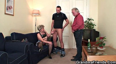 Wife, Old teacher, Old slut, Wife gangbang