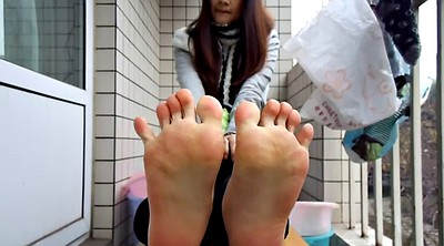 Chinese v, Chinese foot, Sole, Chinese teens, Chinese e