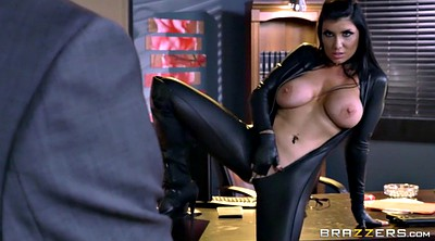 Leather, Romi rain, Office tease
