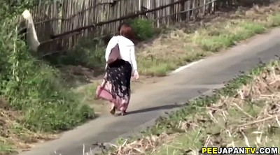 Japanese outdoor, Japanese pee, Hair, Japanese pissing, Asian outdoor