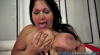 Big, Old woman, Granny handjob, Granny big tits
