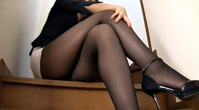 Japanese pantyhose, Japanese black, Pantyhose girl