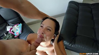 Cash, Latina doggy fucking brunette, Latina doggy fucking