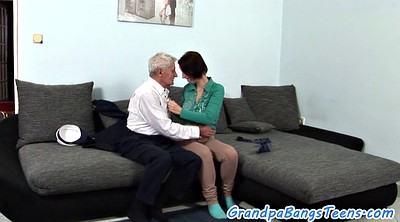 Swallow cum, Old young, Swallowing