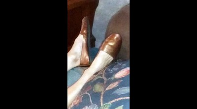 Mature feet, Shoe masturbate, Granny feet