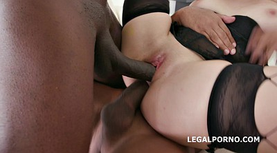 Double anal, Big black cock anal