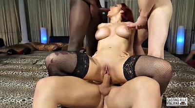 Interracial anal, Interracial party, Anal casting