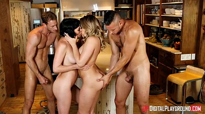 Wife, Group kissing, Hairy wife