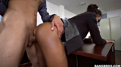 Boss, Promotion, Employee, Seduce boss, Ebony missionary, Black boss