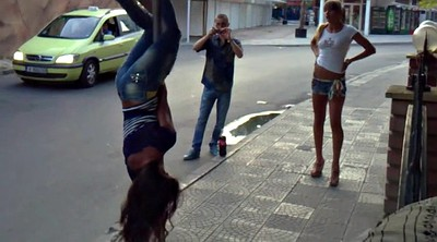 Voyeur, Teen girl, Streets, Hot dance, Dance hot
