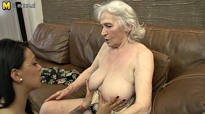 Young girl, Lesbian granny