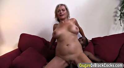 Blonde cougar, Ebony busty