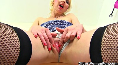 Huge dildo, English milf