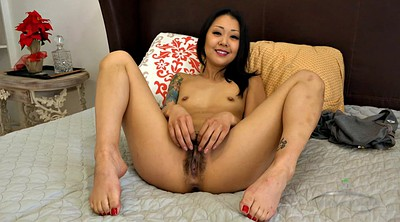 Asian solo, Hairy masturbating, Hairy fingering, Flat, Asian panties, Flat chest