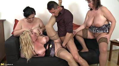 Three, Son mom, Sons, Mom sex, Busty mom, Moms son