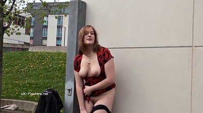 Chubby solo, Dress, Flashing, Public flashing, Hair play, Boot
