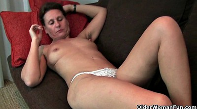 Hairy mom, Granny fingering
