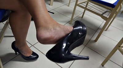 Candid feet, Legs, High-heeled