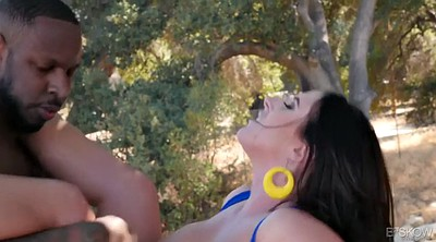 Chubby, Angela, Angela white, Chubby anal, Outdoor blowjob, Interracial blowjob