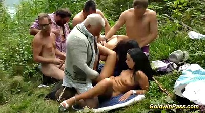 Orgy, Outdoor sex, Group anal, Outdoor anal